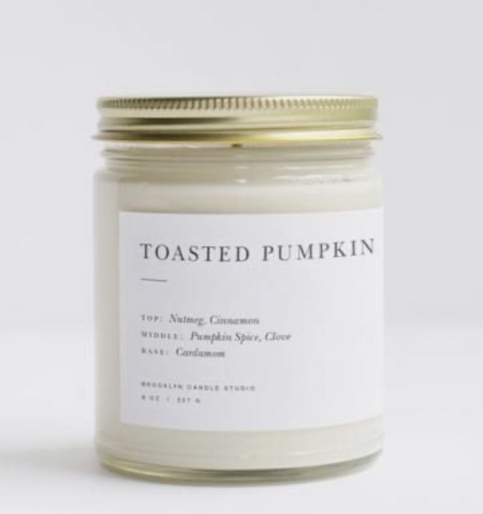 Anthropologie Pumpkin Clover Candle