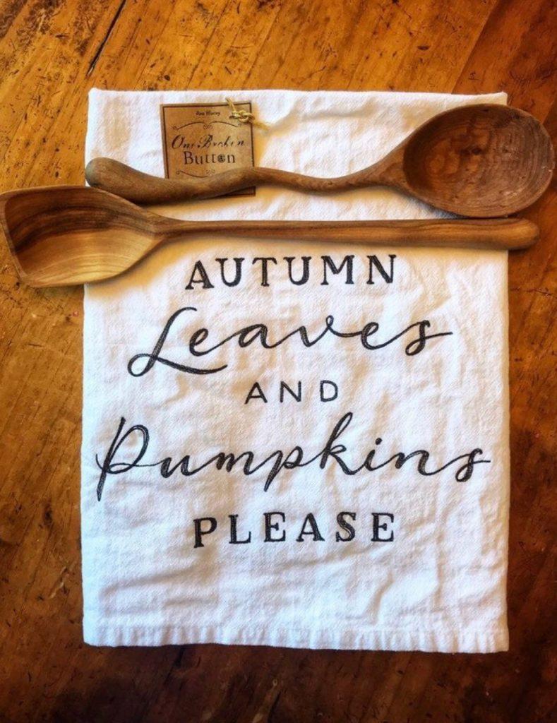 Designs by Kathy dish towel pumpkin farmhouse